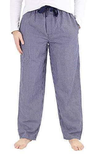 IZOD Men's Poly-Rayon Yarn-dye Woven Sleep Pant, Navy Checkered, Large