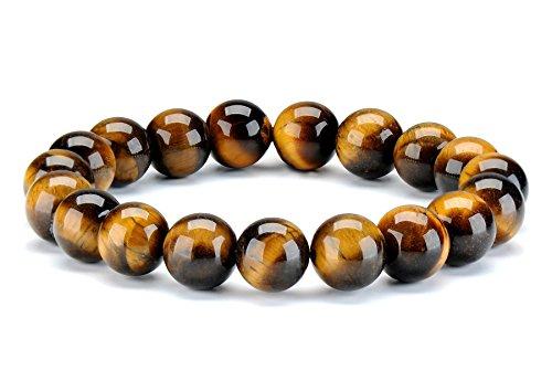 10 MM Natural Pulsera ojo de tigre Gemstones Stone Bead Healing Energy Crystal Pulseras elásticas de mujer hombre