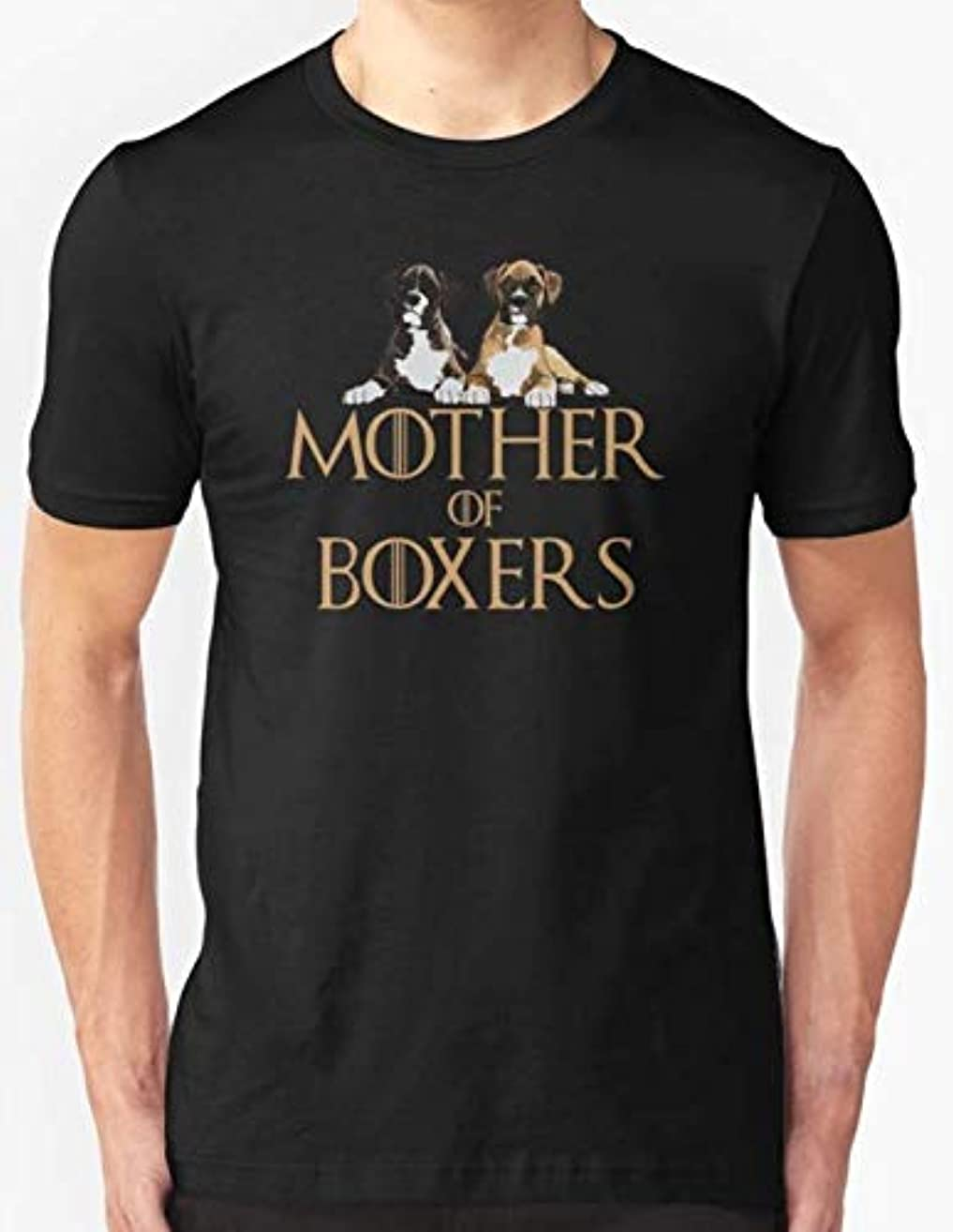 Boxer Dog Funny Design - Mother Of Boxers Slim Fit T-Shirt For Man and Woman