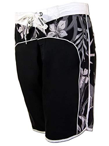 SEESTERN Damen Boardshorts Surfshorts Boardshort Surf Short Bade Shorts XS-XXXL /1623 Schwarz 2XL