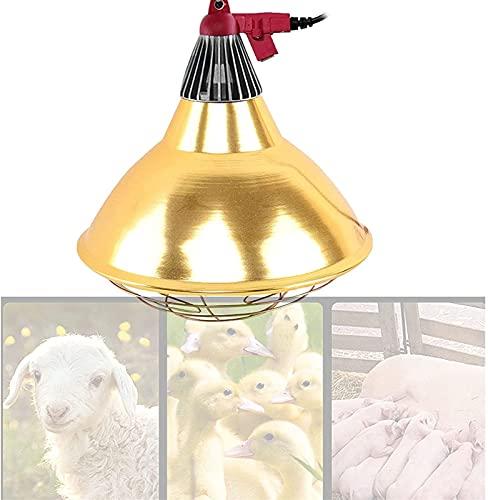 MARHD Lámpara de Calor para Polluelos con Bombilla, 200 W, criadora de Pollos de Aves de Corral, lechones, Ganado, lámpara de Calor para Mantener Calientes a los Animales, Ideal para gallinero