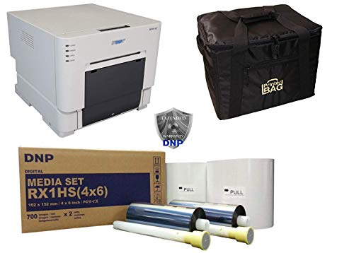 """DNP DS-RX1HS Photo Printer.. BUNDLE DEAL. Comes with our exclusive CARRYING CASE and 1 BOX OF 4X6"""" media kit paper & ribbon (1400 prints). THREE YEAR WARRANTY INCLUDED!!! Authorized Dealer."""