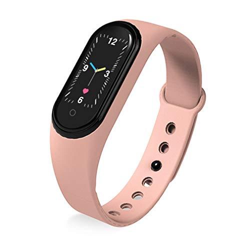 M5 Kleurenscherm Hartslag Muziek Stappenteller Slimme armband Zwaartekrachtsensor Tempo Roze
