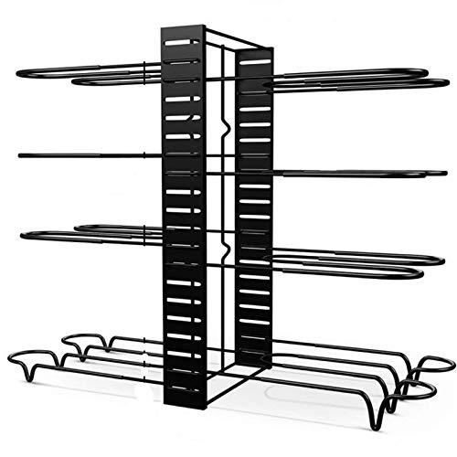 Kekkein Organizador de ollas y sartenes para gabinete ajustable 8 niveles antideslizantes con 3 métodos de bricolaje organizador de cocina rack para ollas y sartenes (color : 8 neumáticos)