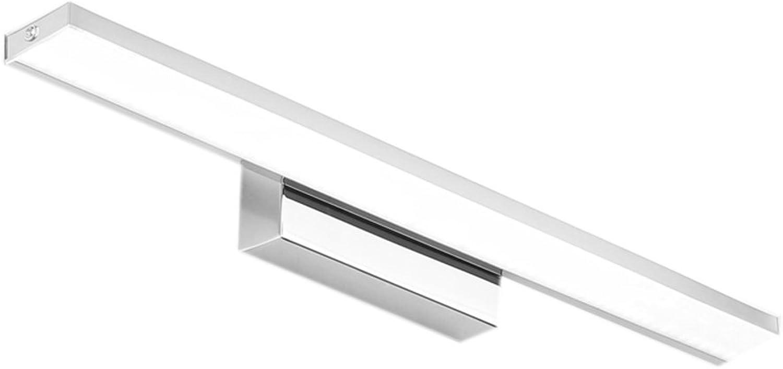 YMXLJF LED Wasserdicht Nebel Spiegel Frontleuchte Badezimmer mit Edelstahl und Acryl Make-up Lampe Badezimmerzubehr (Farbe   Weies Licht-62cm(24.4inch))