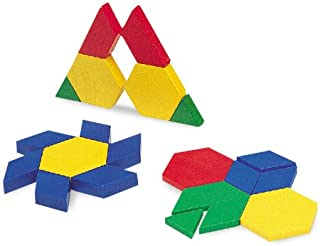 Learning Resources Plastic Pattern Blocks .5cm, Set of 100 Blocks, Grades PreK+