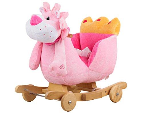 Enfant Rocker Toddler Rocker Infant Rocker Cheval à bascule solide bois chaise berçante pour 1-4 ans bébé enfant jouet -LI JING SHOP