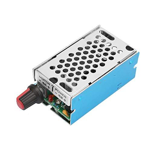 Motor Stepless Gobernador Motor Controlador de velocidad Regulador de velocidad Regulador de control de velocidad DC9-60V 10A con interruptor