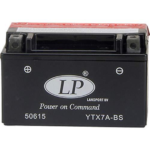 YTX7A-BS DIN 50615 Landport AGM Roller u.Motorrad Batterie 12V 6Ah 150x87x95mm LxBxH