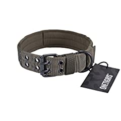 SOLID QUALITY & SOLID COMFORT: Designed with thick nylon strap with thick soft cushion padded inner lining to ensure your dog's wearing comfortable and not case any irritation GREAT DETAILS FOR USER FRIENDLY: Hook & loop panel for you to add a unique...