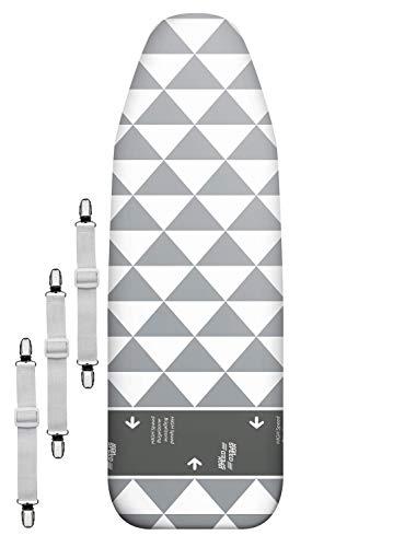 arteneur® - Made in Germany High Speed Bügelbrettbezug für Dampfbügeleisen 120x40 - Bügeltischbezug mit Gleitzone und Thermo Reflect Alu Beschichtung für Dampf- & Hitzereflexion