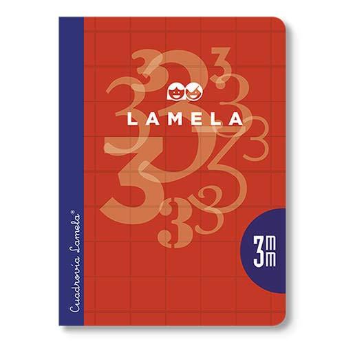 Cuaderno Libreta LAMELA, 4º 50H Cuadrovía 5 mm. Tapa Básica