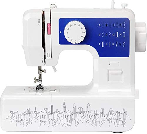 YOUXIN Mini Electric Sewing Machine Portable,Household Multi-Function Crafting Mending Sewing Machines for Adult Beginners (12 Stitches,2 Speeds,Foot Pedal,LED Sewing Light (Blue) Arrive within 5 Days