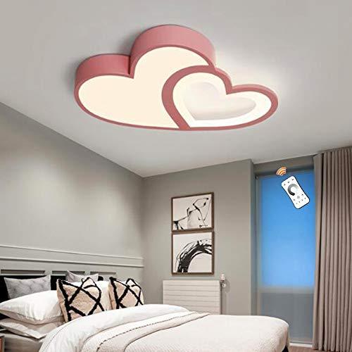 Modern Deckenleuchte LED Dimmbar Lampe Kreatives Design Cartoon Kronleuchter Herz Universum Schmetterling Deckenlampe Kinderzimmer Schlafzimmer Wohnzimmer Deckenbeleuchtung Innenbeleuchtung,A Pink