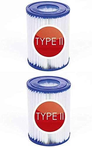 NJYBF poolfilter kartusche, 58094 Filterkartuschen Gr.II, Filterpatronen für Bestway II Filter Größe 2, 2-er Set