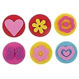 N-K Pulabo 6 piezas coloridos niños Stamper espuma sellos esponja scrapbooking pintura forma juguetes educativos regalos 4 cm alta calidad económica