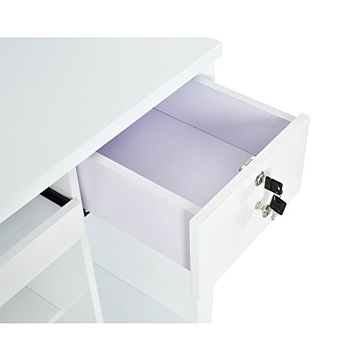Reception Desk All Purpose Reception Counter Reception Area Desk With Illuminating Led Lights - Georgian