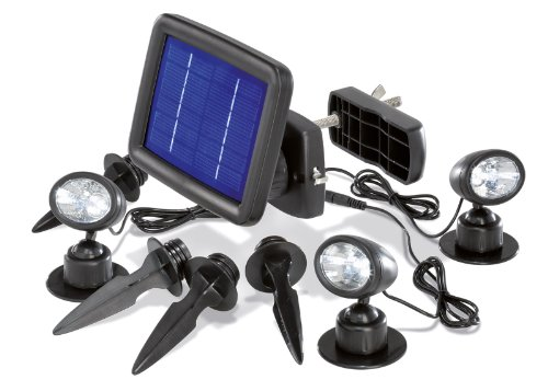 Esotec - Solarspot Trio mit drei Spots schwarz