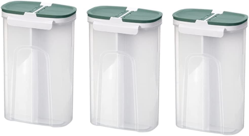 Canisters Cereal Containers Storage Set Pieces Silicone Dallas Mall Clear Max 49% OFF 3