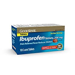 GoodSense Ibuprofen Tablets, 200 mg, Pain Reliever and Fever Reducer, 100 Count, Temporarily Relieve