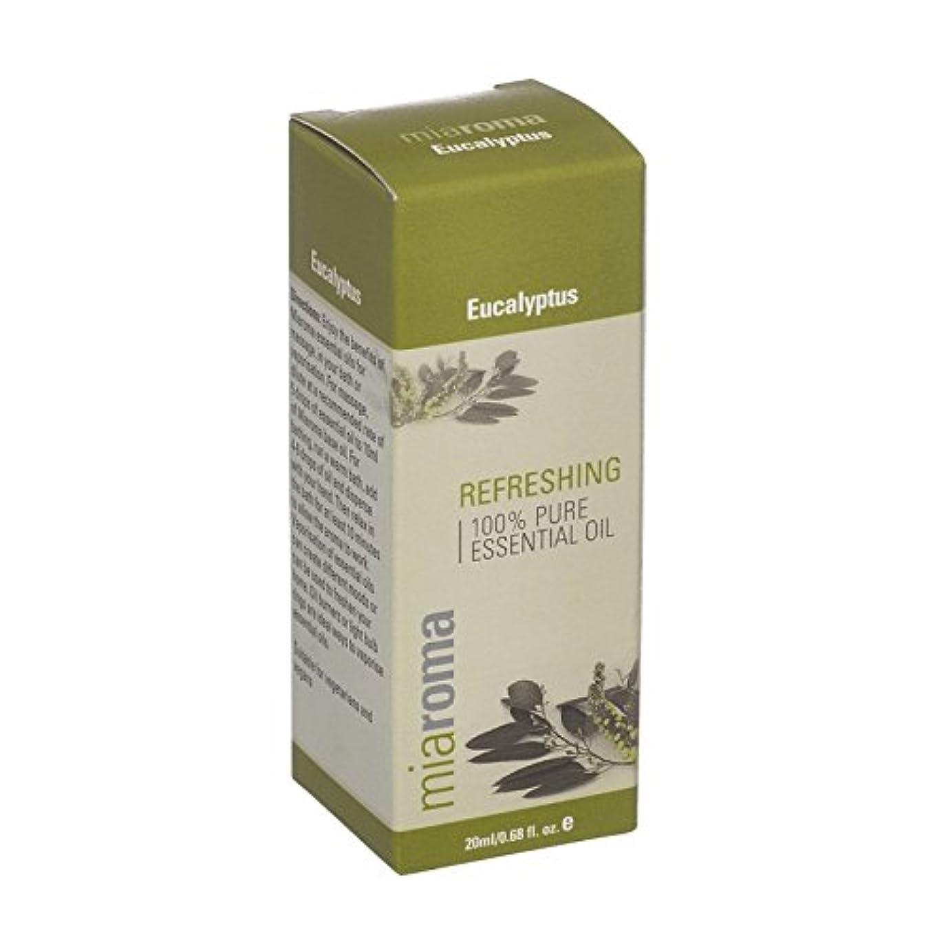 感謝しているシュート把握Miaroma Eucalyptus Pure Essential Oil (Pack of 2) - Miaromaのユーカリの純粋な精油 (x2) [並行輸入品]