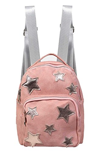 PILOT Women's Faux Leather Star Detail Backpack in Pink, size One Size