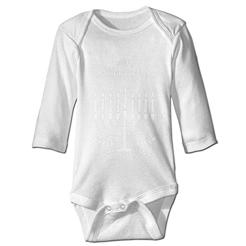 Happy Hanukkah Baby's Long Sleeve Baby Clothes Jumpsuit White
