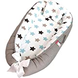 Baby Lounger and Baby Nest, Co Sleeping Baby Bassinet - Breathable & Soft Co Sleeper Portable Crib Newborn Lounger, 100% Cotton & Hypoallergenic Baby Bed for 0-12 Months
