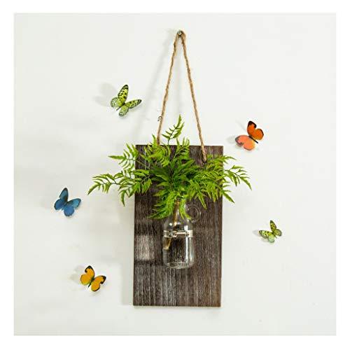 ZYN wanddecoratie-hanger, muur hydroponische vaas glas aan de muur hangt transparante container glazen fles plant in bloempot