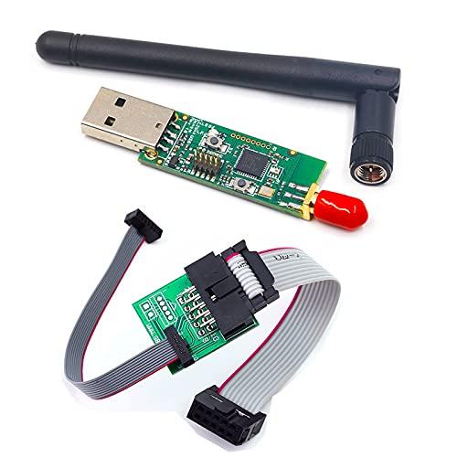 XTVTX CC2531 Sniffer USB Dongle Protocolo Analizador+Bluetooth 4.0 CC2540 Zigbee CC2531 Sniffer USB Dongle BTool Programador Conector Junta Descargador Cable 1 Unidades