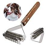 AIDIYA Profesional Pet Dematting Peine Grooming Stripping Herramienta para Perros y Gatos (Dual)