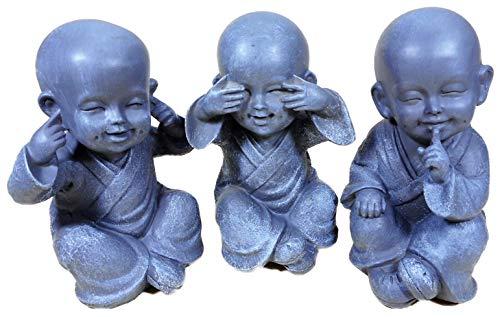 N / A - Juego de 3 figuras decorativas para jardín (16...