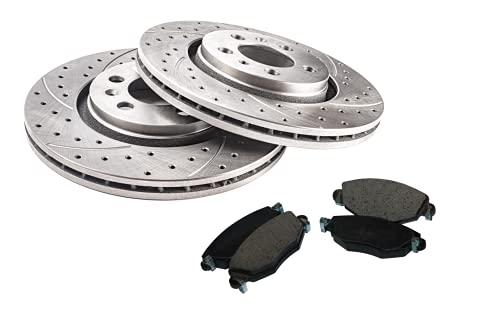 GT Sport Disco Rotori + Pastiglie compatibili con ALFA ROMEO 164 1987 1988 1989 1990 1991 1992 1993 1994 1995 1996 1997 1998 - posteriore - completo - 0338GV - Diametro 251mm - Fori 5