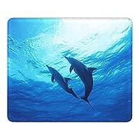 青 海 クジラマウスパッド25 * 30CMポリエステル布製 耐久性がありグリーンで環境に優しい精密シーミングマウスパッド