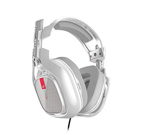 ASTRO A40 TR Gaming-Headset, 3. Generation, Dolby 7.1 Surround Sound, 3,5 mm Klinke, Austauschbares Mikrofon, Lautsprecher-Tags, Leichtgewicht, Mod-Kit Kompatibel, PC/Mac/PS4 - weiß