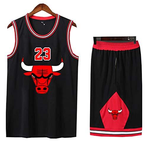 Uniformes de Entrenamiento de Baloncesto para niños, Ropa Deportiva para Estudiantes Bull 23, chándal de Camisa de Baloncesto para niños, Top de chándal, Pantalones Cortos de Verano para niños y