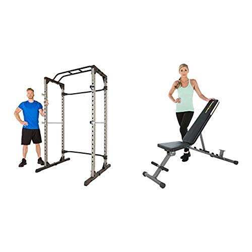 FITNESS REALITY 1000 Weight Bench Combo and 810XLT Super Max Power Cage Combo