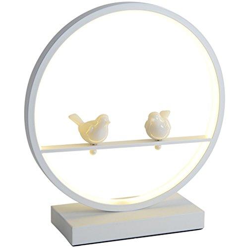 Lampade da lavoro Moderna lampada da tavolo in ferro battuto minimalista, lampada da tavolo a LED, lampada da tavolo rotonda da uccello, lampada da tavolo da sposa, soggiorno da studio lampada da como