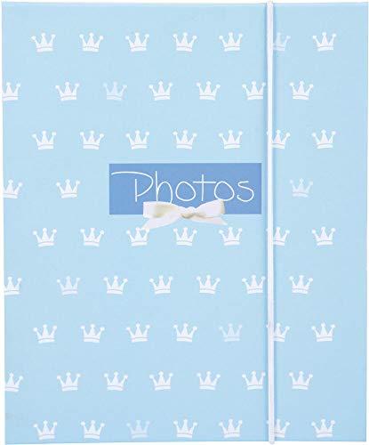 goldbuch Leporello Kleiner Prinz, Kinder Fotoalbum für 10 Fotos im 13x18 cm Format, Bilderalbum mit Kunstdruck und elastischem Band, Ziehharmonika Fotobuch, Papier, blau, ca. 15,5 x 19 x 0,8 cm