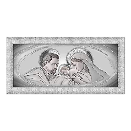 Lupia Quadro Sacra Famiglia Prince 65X135 cm The Kiss Ceramic Grey Silver