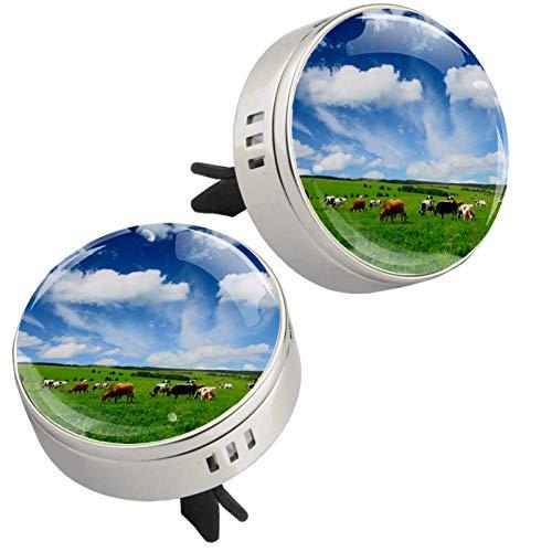Z&Q Coche Salida de Aire del ambientador del purificador Caballo de la Pradera de Aceite Esencial difusor de aromaterapia para el Coche Decoración Dorado 33.8mmX46.4mm