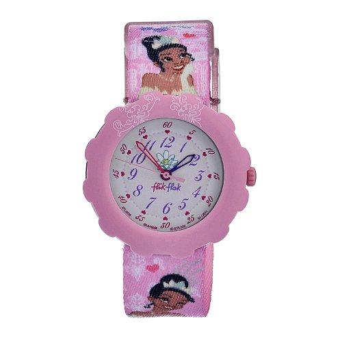 Swatch Kids' ZFLS026 Quartz White And Pink Dial Disney Theme Watch