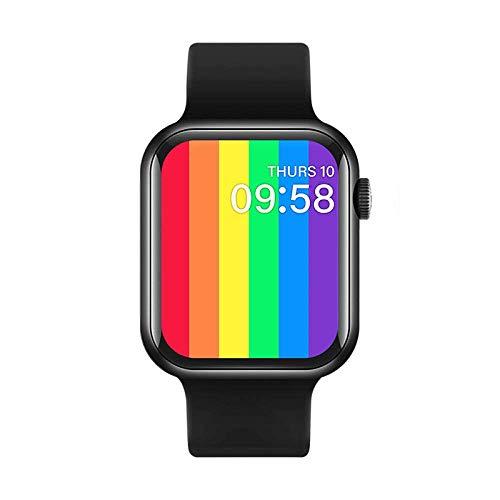 TIANYOU Manera Elegante Reloj Smartwatch de Pantalla Táctil Completa Del Ritmo Cardíaco Del Sueño Monitoreo a Prueba de Agua Reloj de Pulsera-Pink regalo de vacaciones/Negro