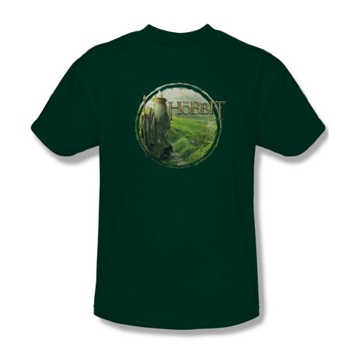 The Hobbit - Herren Gandalfs Journey T-Shirt im Jäger-Grün, XX-Large, Hunter Green