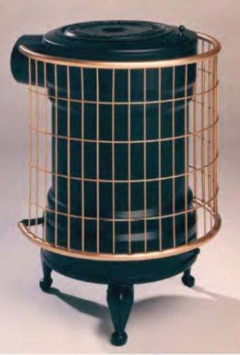 Panadero M288845 - Estufa de leña chapa negra y oro redonda