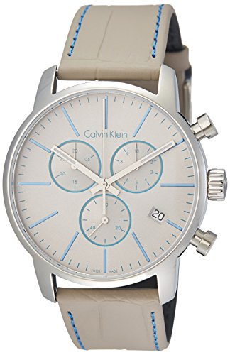 Calvin Klein Reloj Cronógrafo para Hombre de Cuarzo con Correa en Cuero K2G271Q4