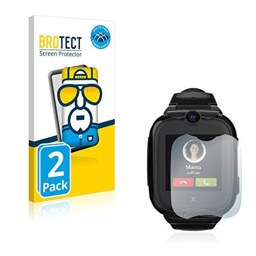 BROTECT Full-Cover Schutzfolie kompatibel mit Xplora Go 2 (2 Stück) - Full-Screen Bildschirmschutz-Folie, 3D Curved, Kristall-Klar