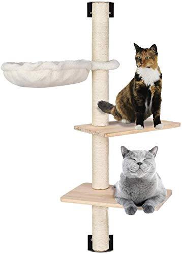 MECOREX® Kratzbaum Katzen, Wandkratzbaum für Kätzchen, Kratzbrett Katzenbaum, Katzenkratzbaum, Kletterbaum, Katzenkratzbäume, Kratzmöbel Spielbaum Schlafplatz zur Wandmontage