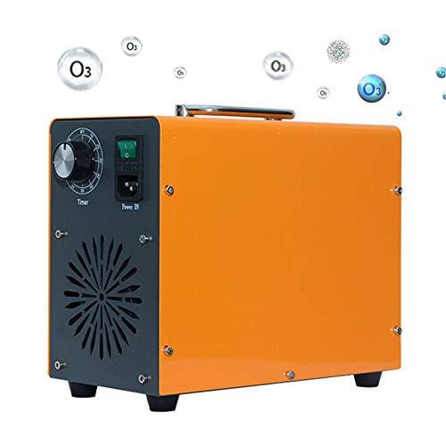 GUOYULIN Generador De Ozono, Desodorizador De Ozono con Temporizador para Habitaciones, Humo, Automóviles Y Mascotas, Metal, Portátil,40G