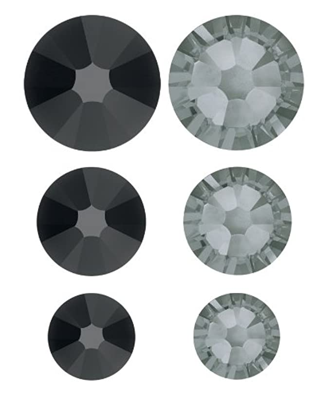 Create Your Style Swarovski Elements Flat Back Crystals, Jet and Diamond Value Pack